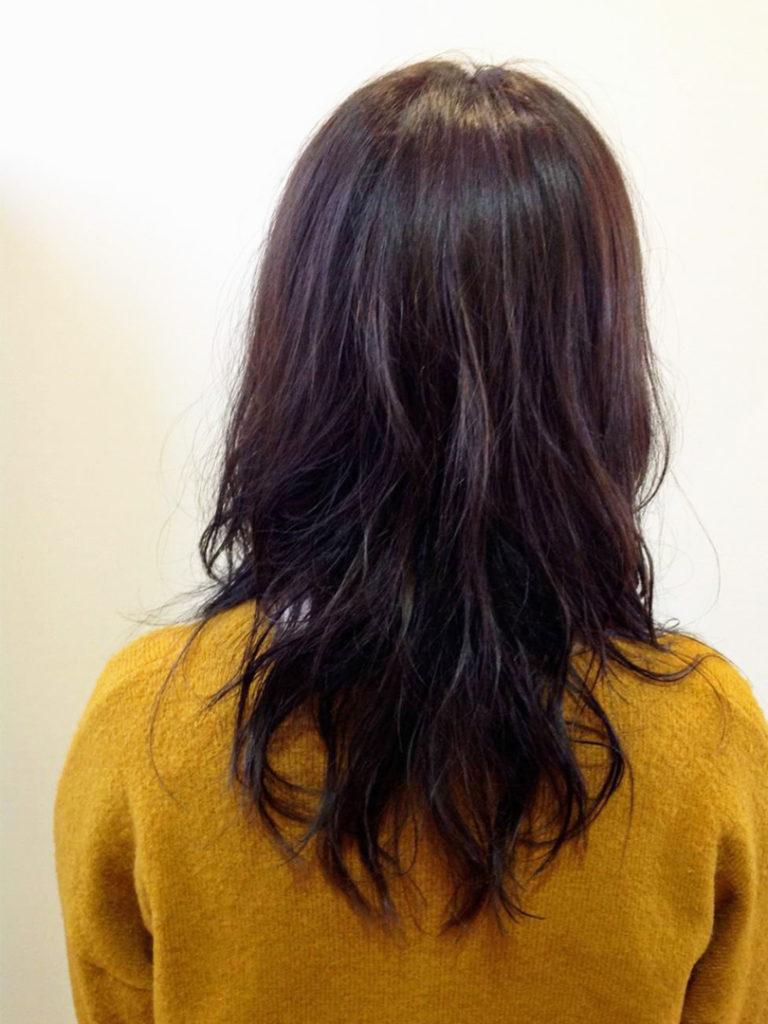 アッシュ系艶髪