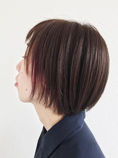桜カラーショートスタイル