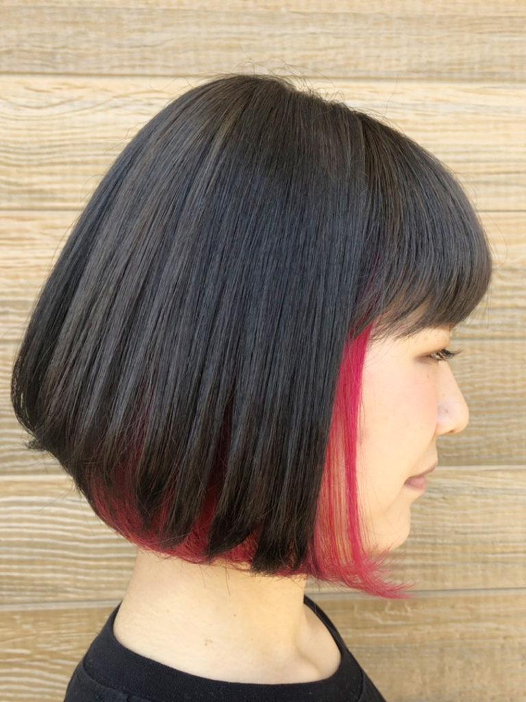 インナーカラー☆vivid pink