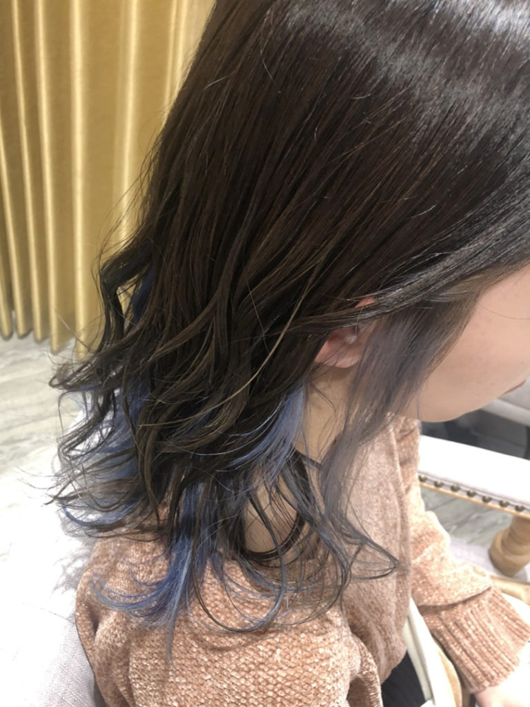 インナーカラー ブルー