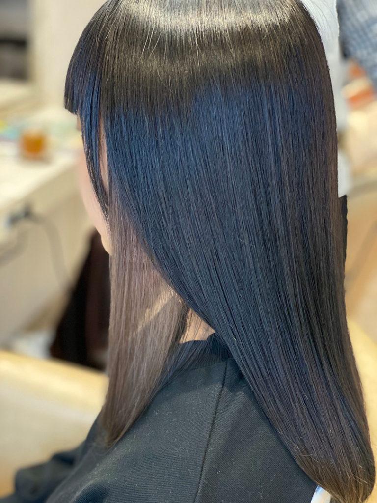 暗髪×インナーカラー