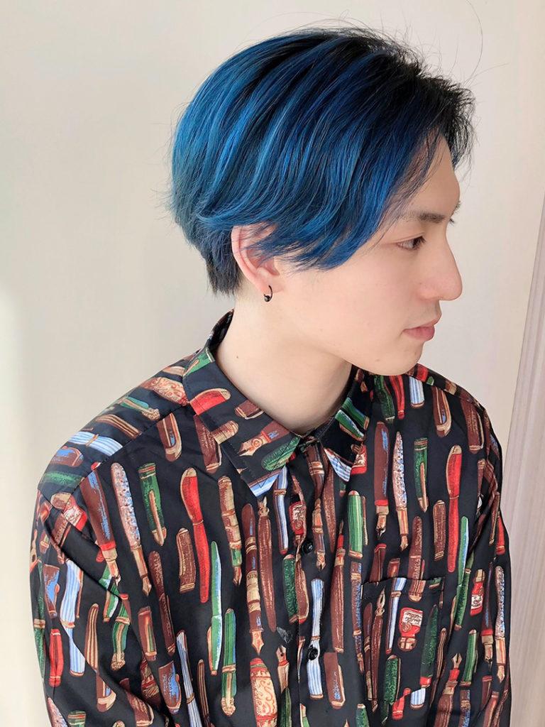 アニ髪ブルー鬼滅カラー