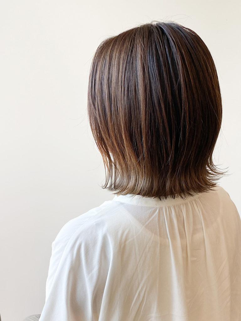 外ハネ裾カラー