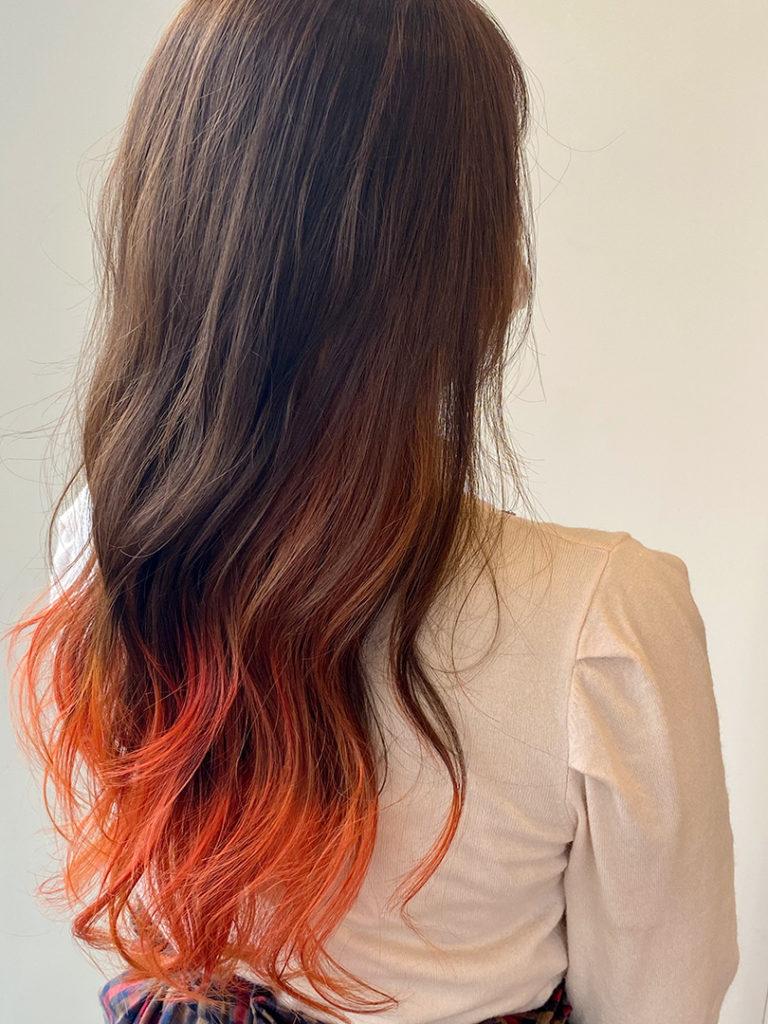 カッパーオレンジ×裾カラー
