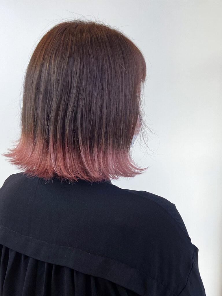 Smoky pink 裾カラー