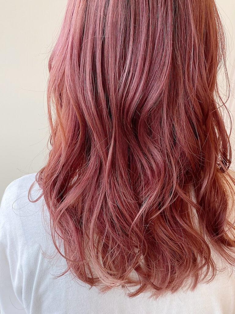 ロング×ピンクカラー